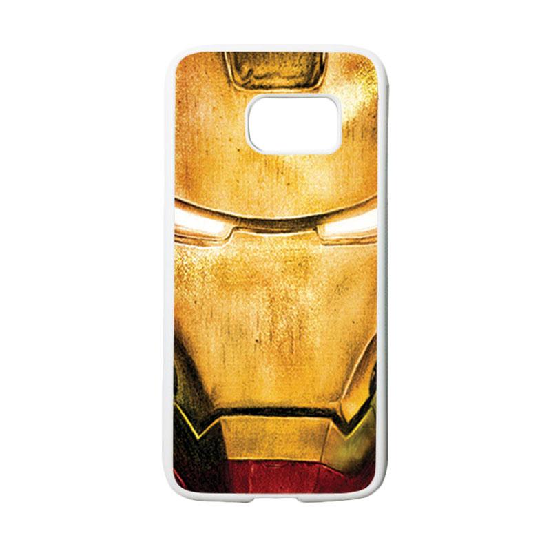 HEAVENCASE Superhero Ironman 02 Casing for Samsung Galaxy S7 - Putih