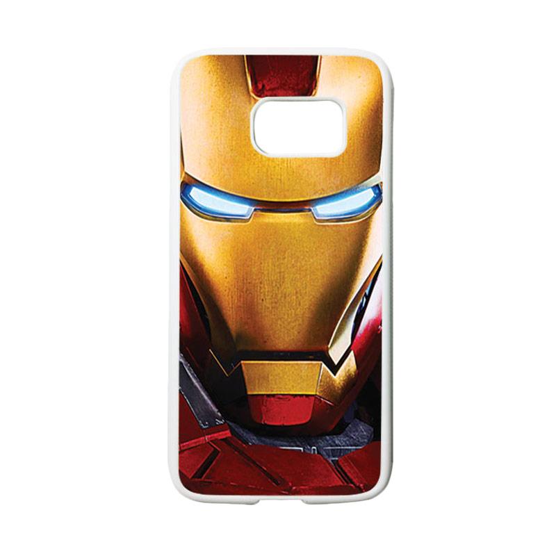 HEAVENCASE Superhero Ironman 07 Casing for Samsung Galaxy S7 - Putih