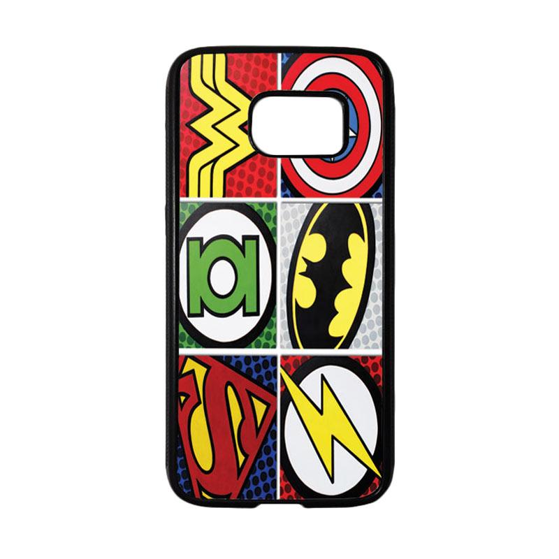 HEAVENCASE Superhero Logo Casing for Samsung Galaxy S7 - Hitam