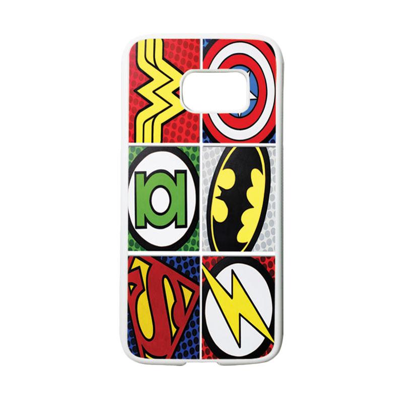 HEAVENCASE Superhero Logo Casing for Samsung Galaxy S7 - Putih