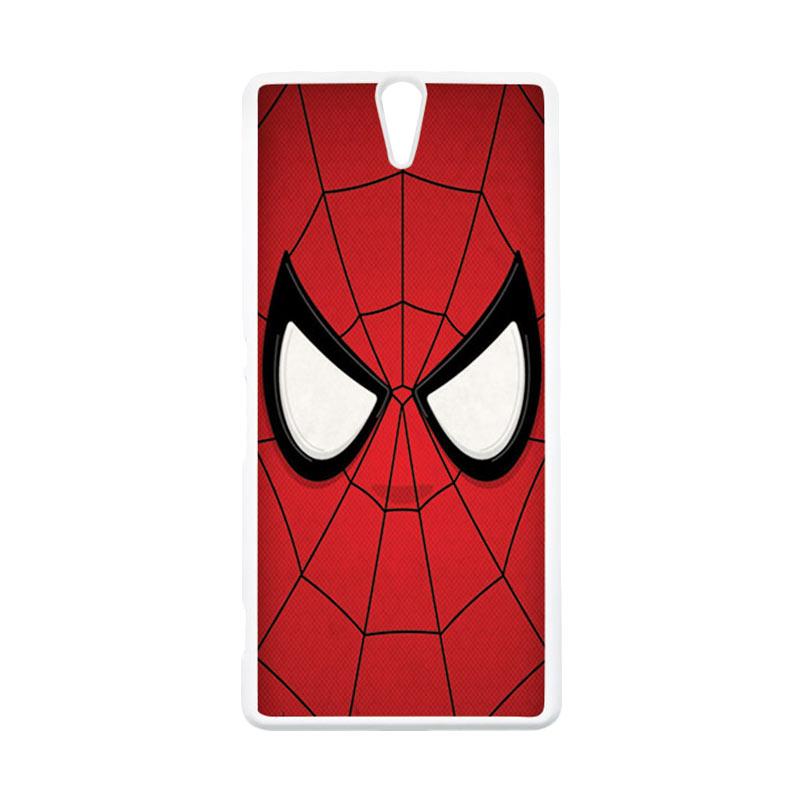 HEAVENCASE Superhero Spiderman 07 Putih Hardcase Casing for Sony Xperia C5 Ultra