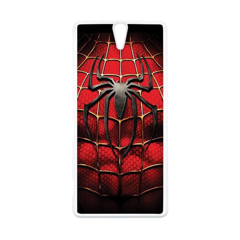 HEAVENCASE Superhero Spiderman 08 Putih Hardcase Casing for Sony Xperia C5 Ultra