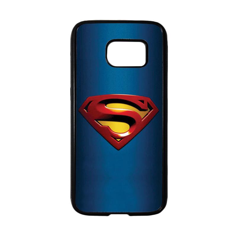 HEAVENCASE Superhero Superman 01 Casing for Samsung Galaxy S7 - Hitam