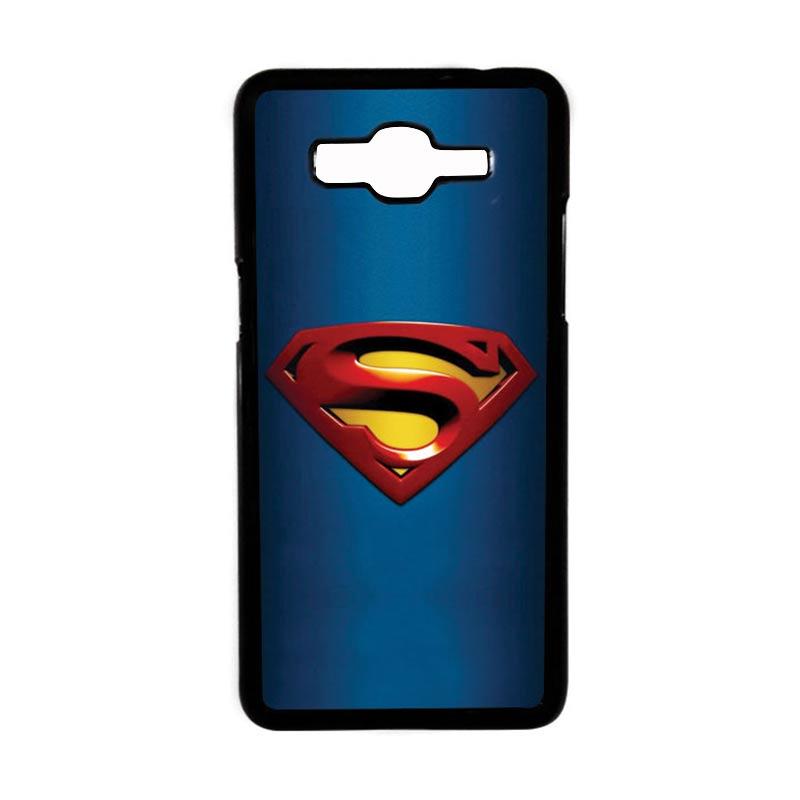 HEAVENCASE Superhero Superman 01 Hardcase Casing for Samsung Galaxy Grand Prime - Hitam