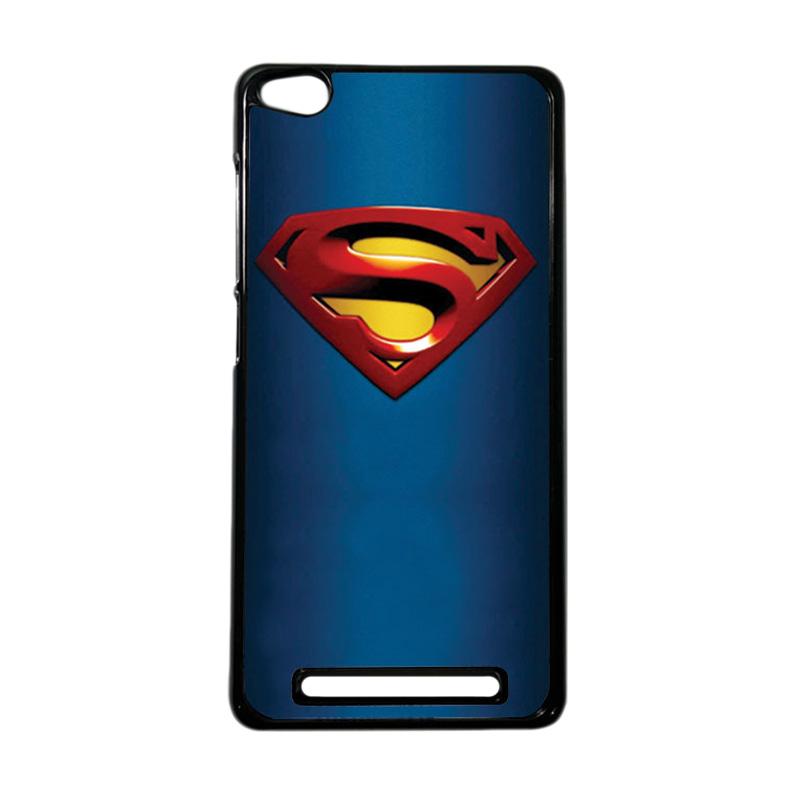 Heavencase Superhero Superman 01 Hardcase Casing for Xiaomi Redmi 3 - Hitam