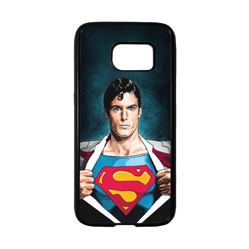 HEAVENCASE Superhero Superman 02 Casing for Samsung Galaxy S7 - Hitam