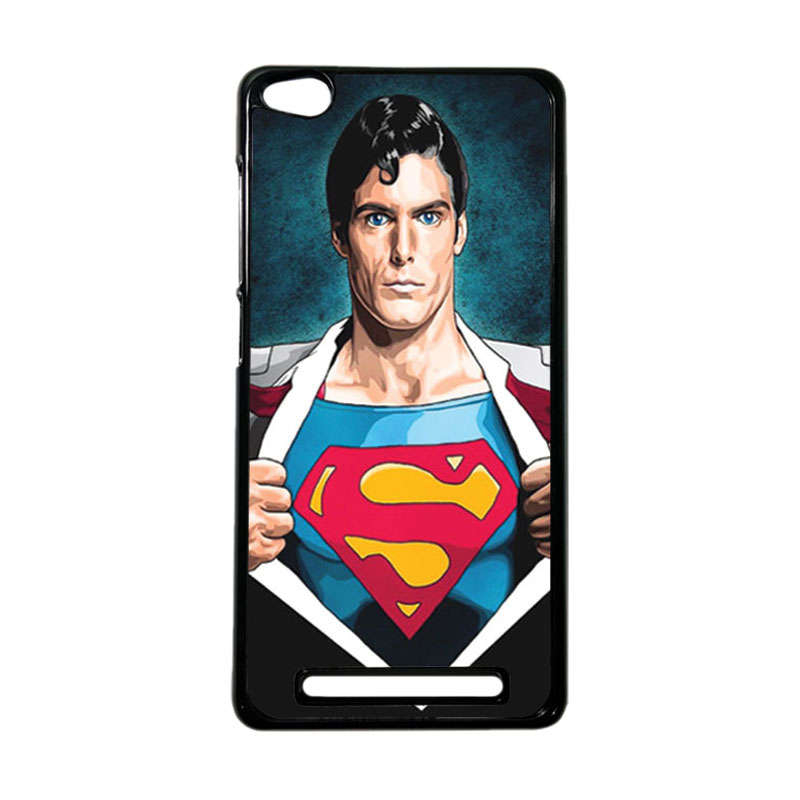 Heavencase Superhero Superman 02 Hardcase Casing for Xiaomi Redmi 3 - Hitam