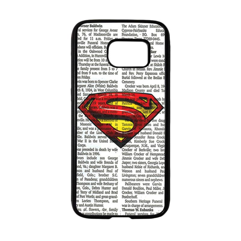 HEAVENCASE Superhero Superman 03 Casing for Samsung Galaxy S7 - Hitam