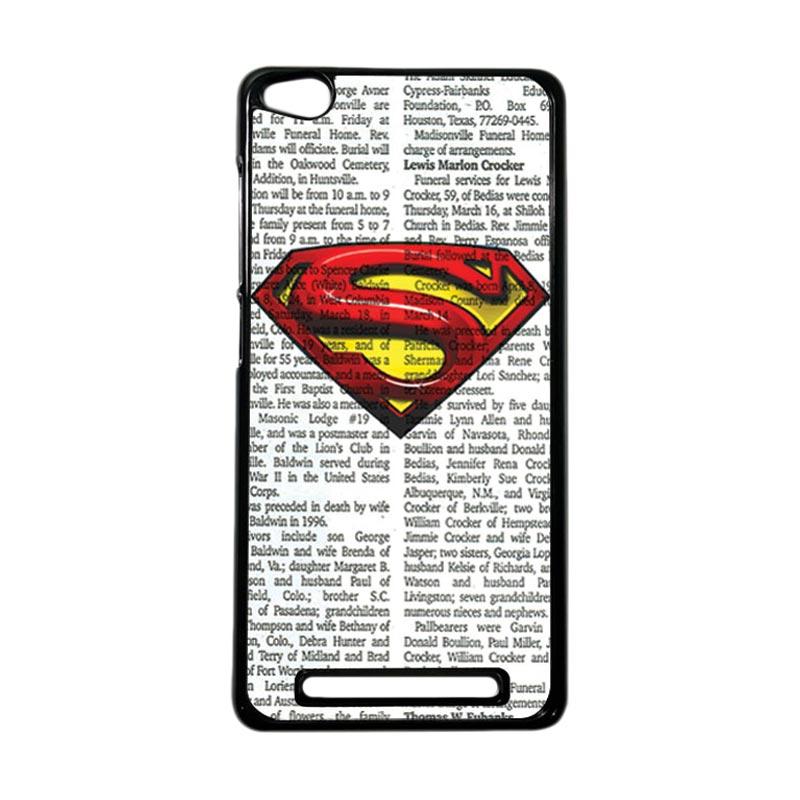 Heavencase Superhero Superman 03 Hardcase Casing for Xiaomi Redmi 3 - Hitam