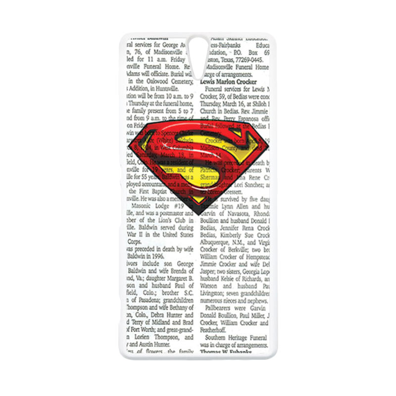 HEAVENCASE Superhero Superman 03 Putih Hardcase Casing for Sony Xperia C5 Ultra