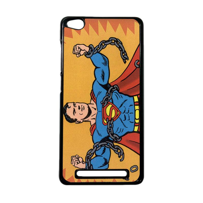 Heavencase Superhero Superman 05 Hardcase Casing for Xiaomi Redmi 3 - Hitam