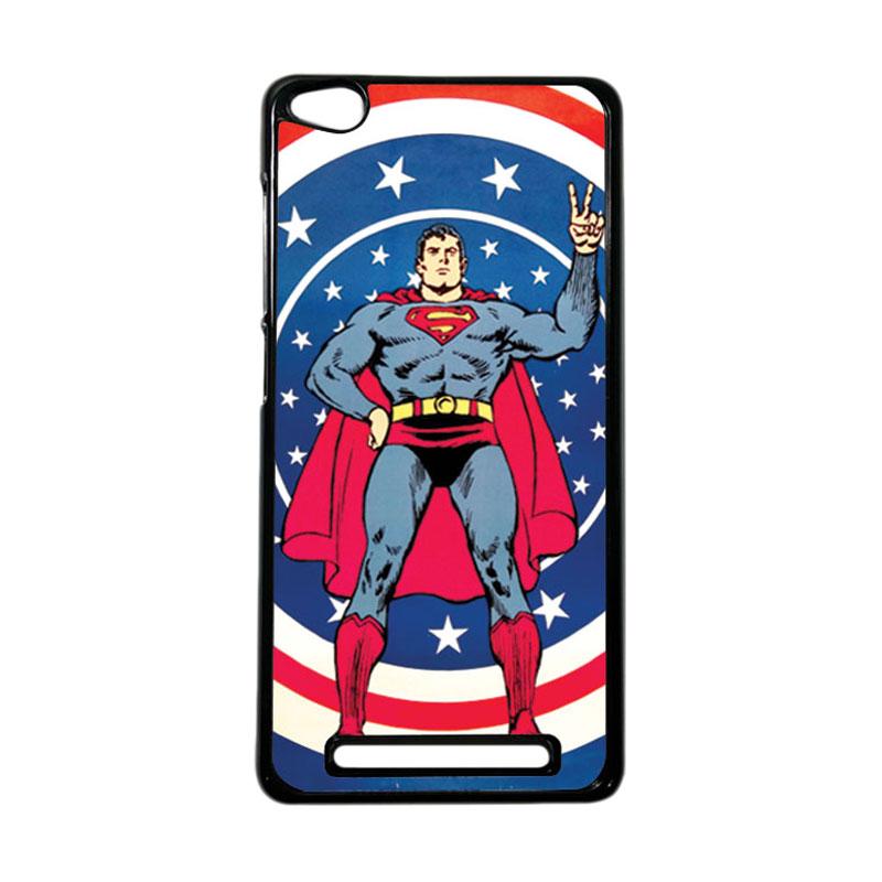 Heavencase Superhero Superman 06 Hardcase Casing for Xiaomi Redmi 3 - Hitam