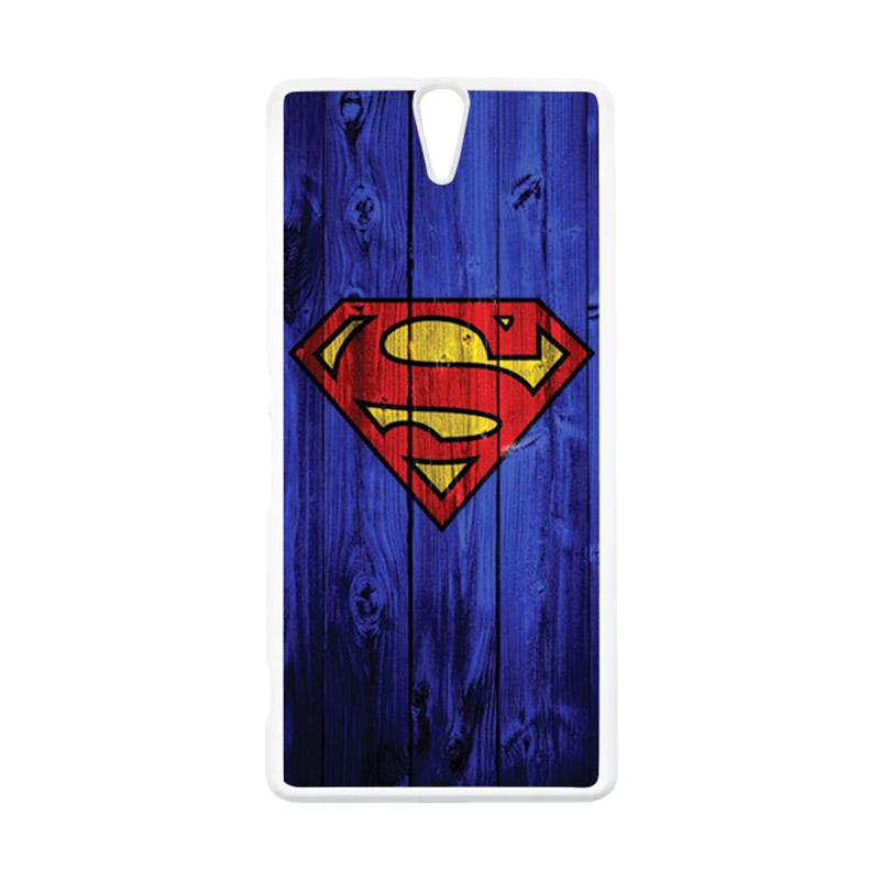 HEAVENCASE Superhero Superman 08 Putih Hardcase Casing for Sony Xperia C5 Ultra