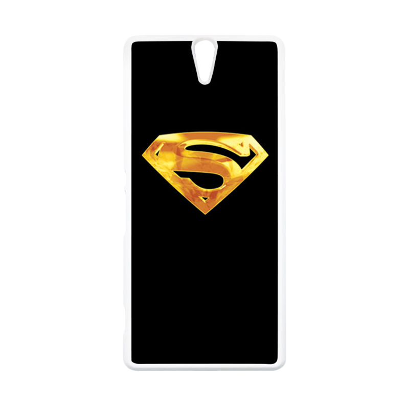 HEAVENCASE Superhero Superman 09 Putih Hardcase Casing for Sony Xperia C5 Ultra