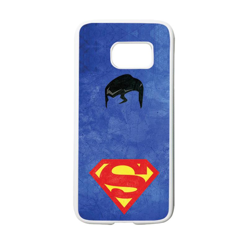 harga HEAVENCASE Superhero Superman 10 Casing for Samsung Galaxy S7 - Putih Blibli.com