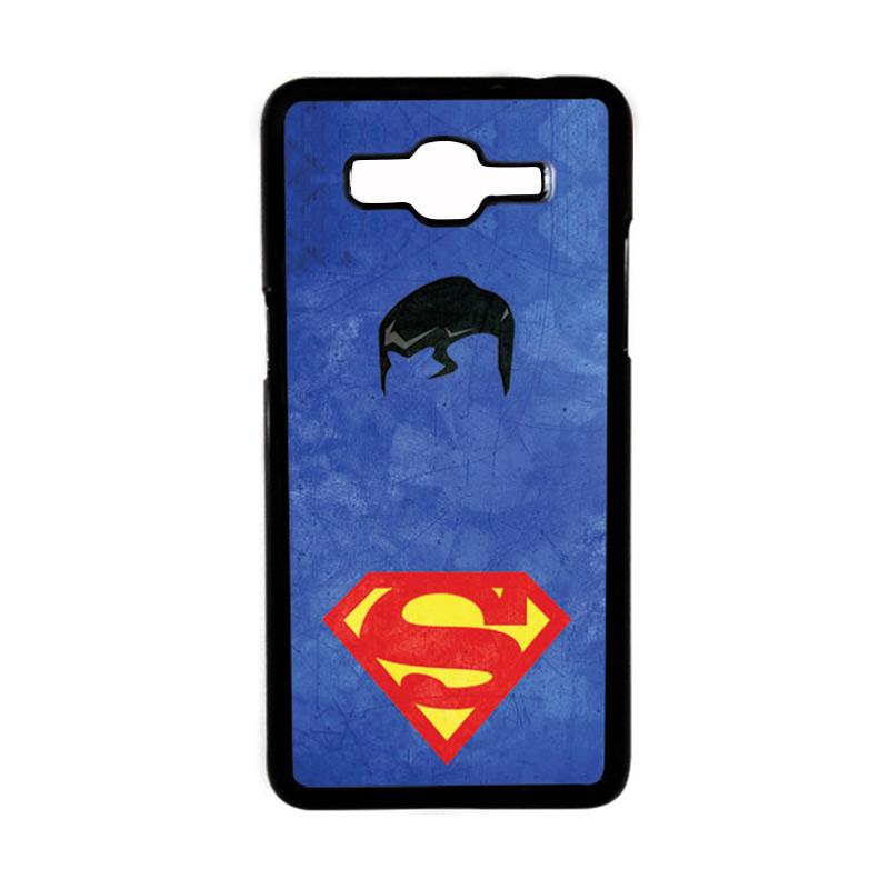 HEAVENCASE Superhero Superman 10 Hardcase Casing for Samsung Galaxy Grand Prime - Hitam