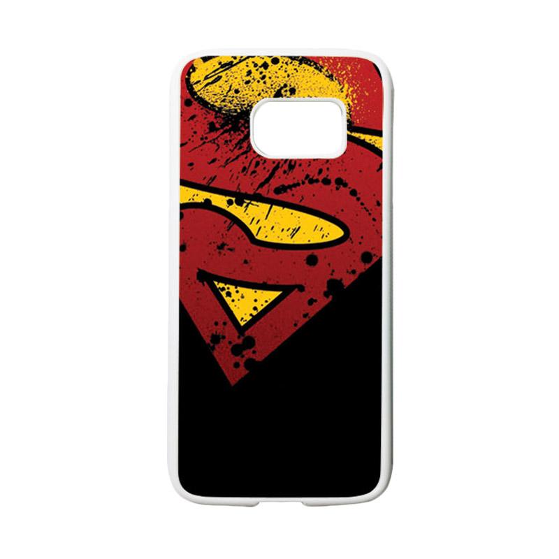 HEAVENCASE Superhero Superman 11 Casing for Samsung Galaxy S7 - Putih