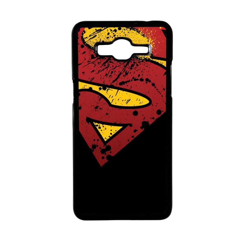 HEAVENCASE Superhero Superman 11 Hardcase Casing for Samsung Galaxy Grand Prime - Hitam