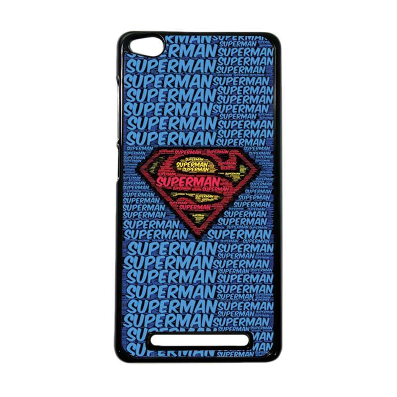 Heavencase Superhero Superman 12 Hardcase Casing for Xiaomi Redmi 3 - Hitam