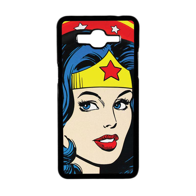 HEAVENCASE Superhero Wonder Woman 01 Hardcase Casing for Samsung Galaxy Grand Prime - Hitam