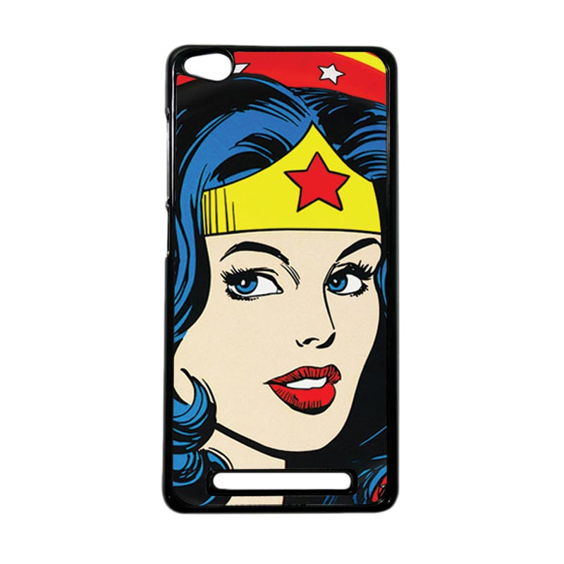Heavencase Superhero Wonder Woman 01 Hardcase Casing for Xiaomi Redmi 3 - Hitam