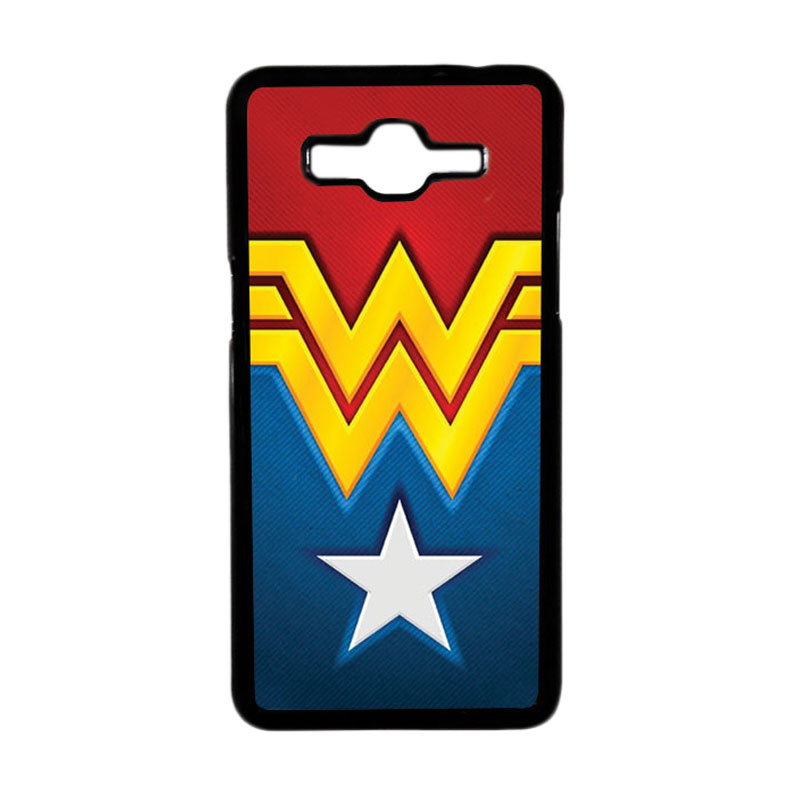 HEAVENCASE Superhero Wonder Woman 02 Hardcase Casing for Samsung Galaxy Grand Prime - Hitam