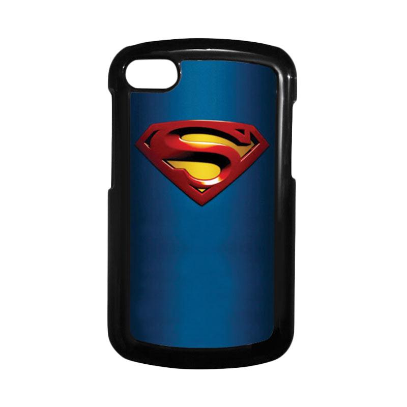 HEAVENCASE Superman 01 Hitam Hardcase Casing Blackberry for Q10
