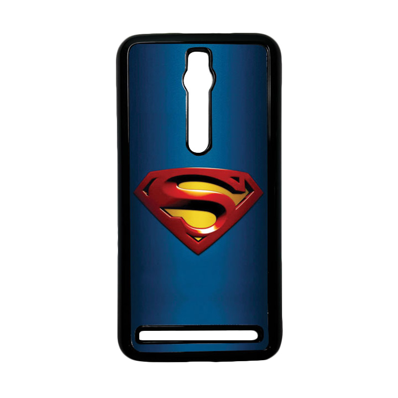 Heavencase Superman 01 Hardcase Casing for Asus Zenfone 2 ZE551ML or ZE550ML - Hitam