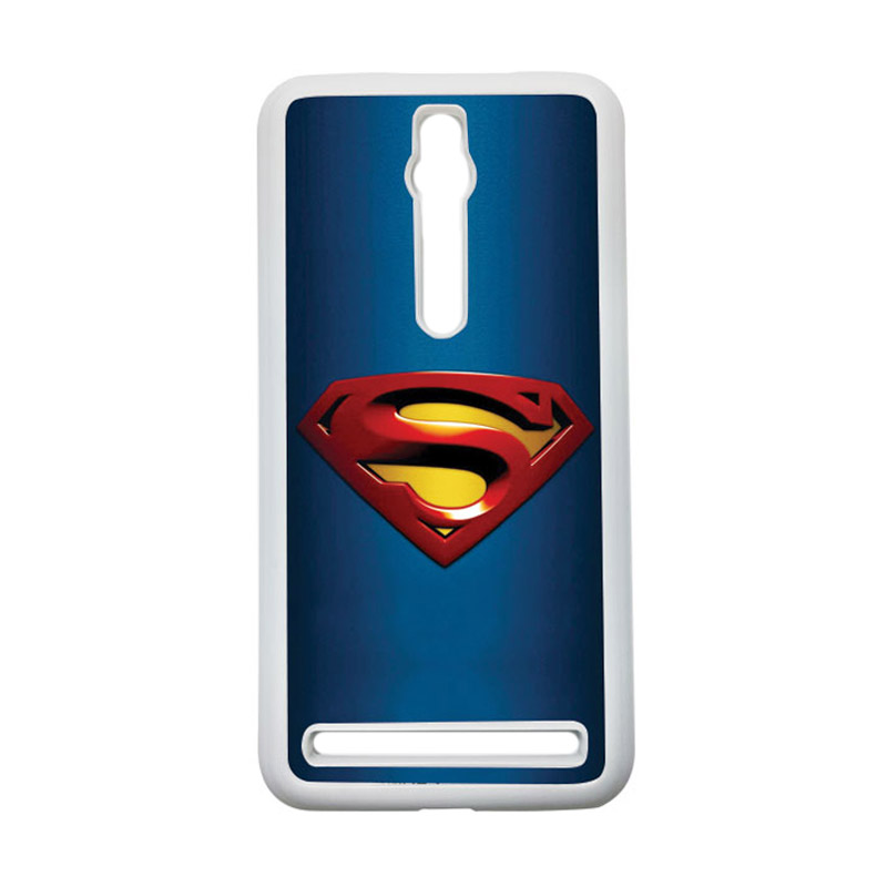 HEAVENCASE Superman 01 Hardcase Casing for Asus Zenfone 2 ZE551ML or ZE550ML - Putih