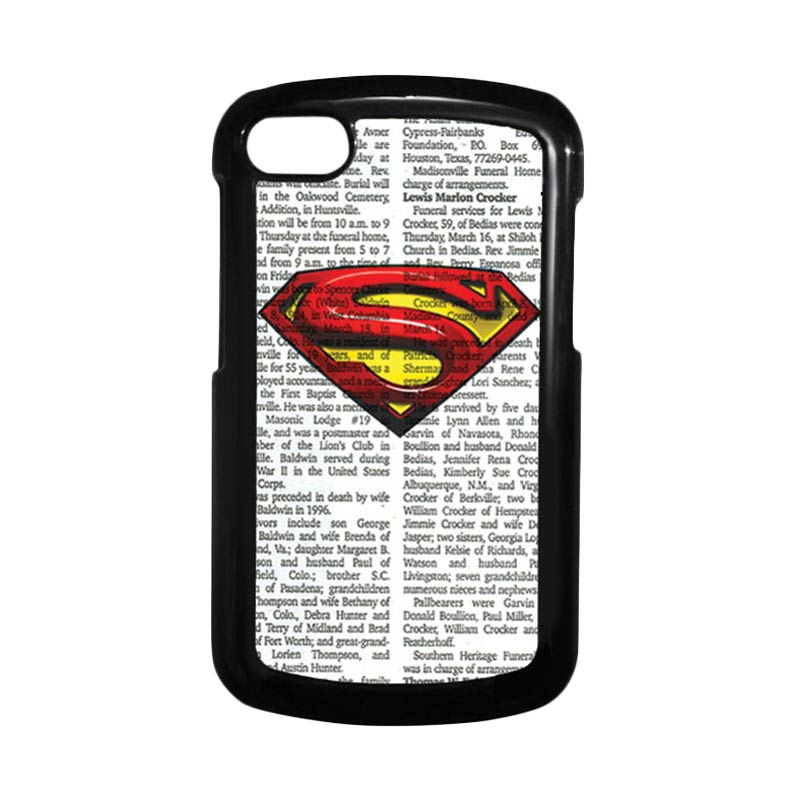 HEAVENCASE Superman 03 Hitam Hardcase Casing Blackberry for Q10