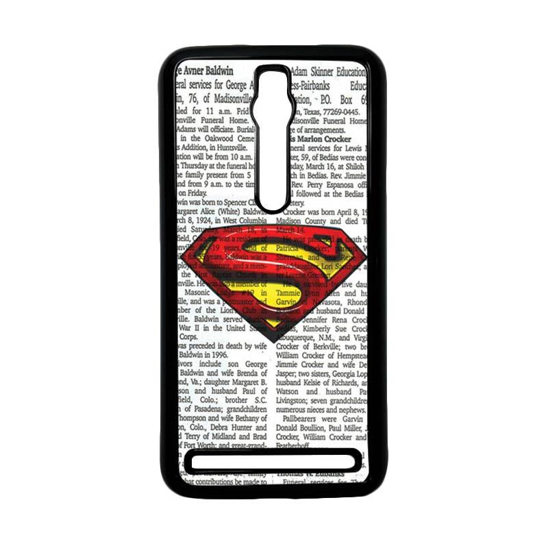 Heavencase Superman 03 Hardcase Casing for Asus Zenfone 2 ZE551ML or ZE550ML - Hitam