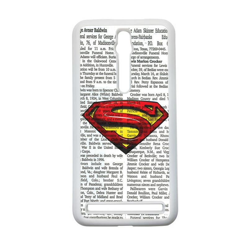 Heavencase Superman 03 Hardcase Casing for Asus Zenfone 2 ZE551ML or ZE550ML - Putih