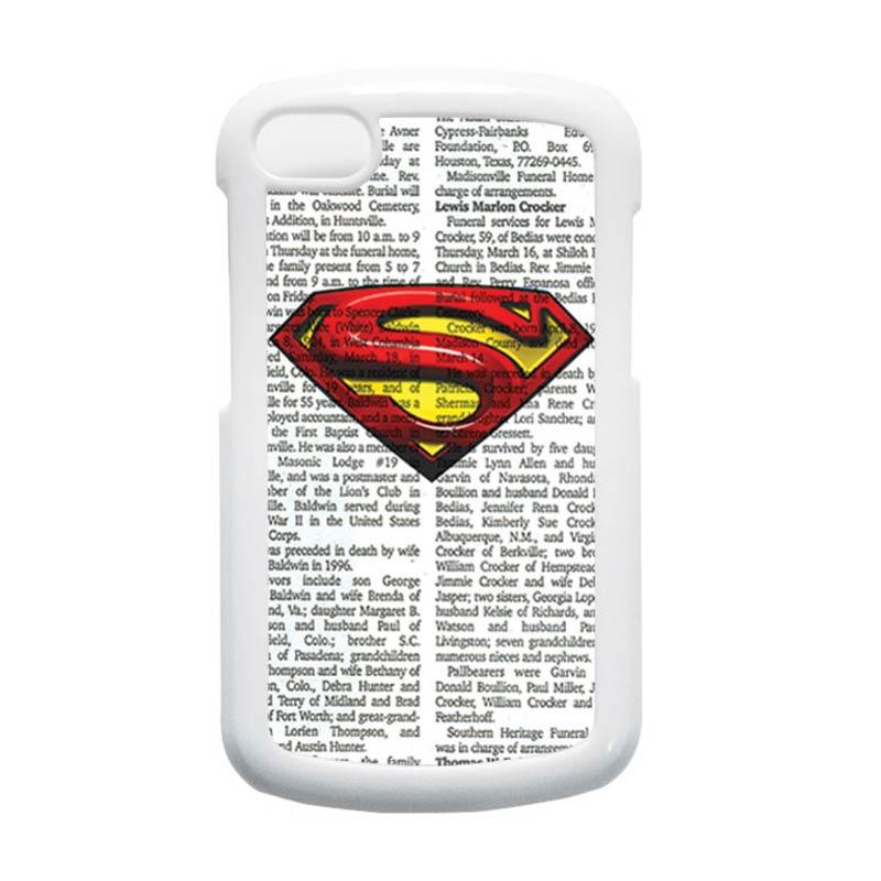 HEAVENCASE Superman 03 Putih Hardcase Casing for Blackberry Q10