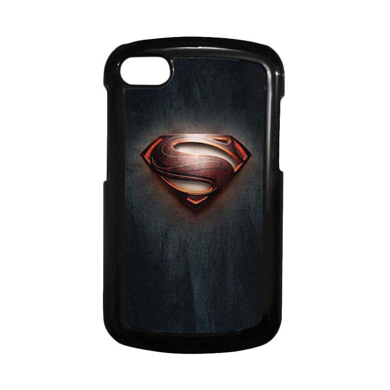 HEAVENCASE Superman 04 Hitam Hardcase Casing Blackberry for Q10