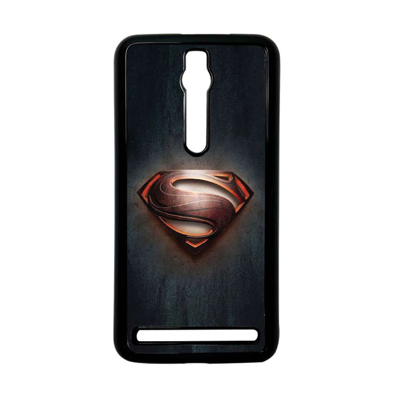 Heavencase Superman 04 Hitam Hardcase Casing for Asus Zenfone 2 Ze551ML or ZE550ML
