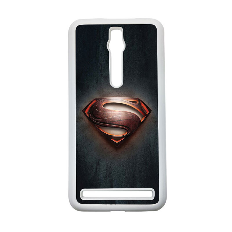 Heavencase Superman 04 Hardcase Casing for Asus Zenfone 2 ZE551ML or ZE550ML - Putih