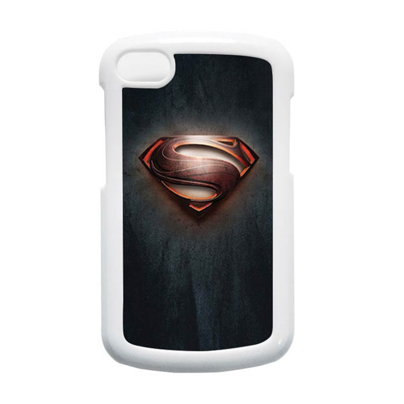 HEAVENCASE Superman 04 Putih Hardcase Casing for Blackberry Q10