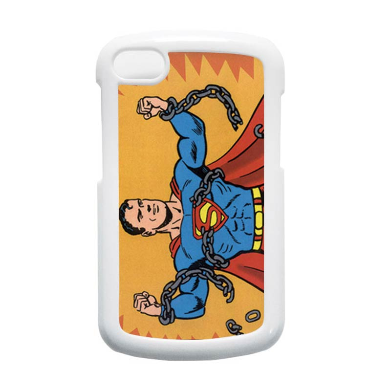 HEAVENCASE Superman 05 Putih Hardcase Casing for Blackberry Q10