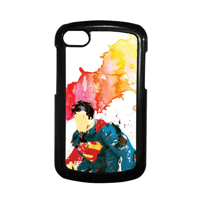 HEAVENCASE Superman 07 Hitam Hardcase Casing Blackberry for Q10