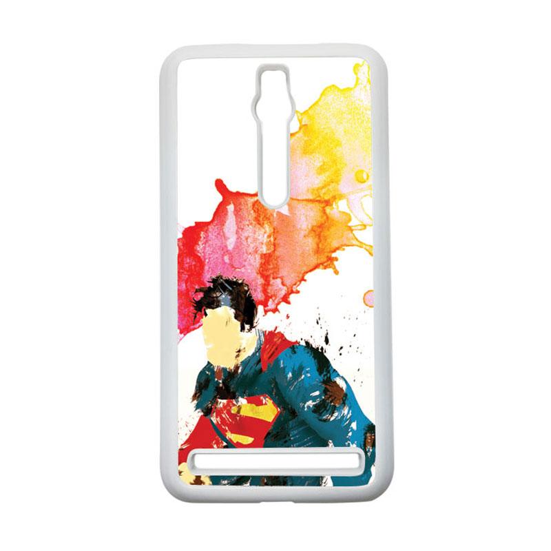 Heavencase Superman 07 Hardcase Casing for Asus Zenfone 2 ZE551ML or ZE550ML - Putih