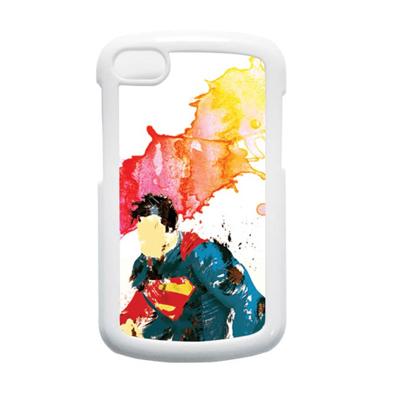 HEAVENCASE Superman 07 Putih Hardcase Casing for Blackberry Q10
