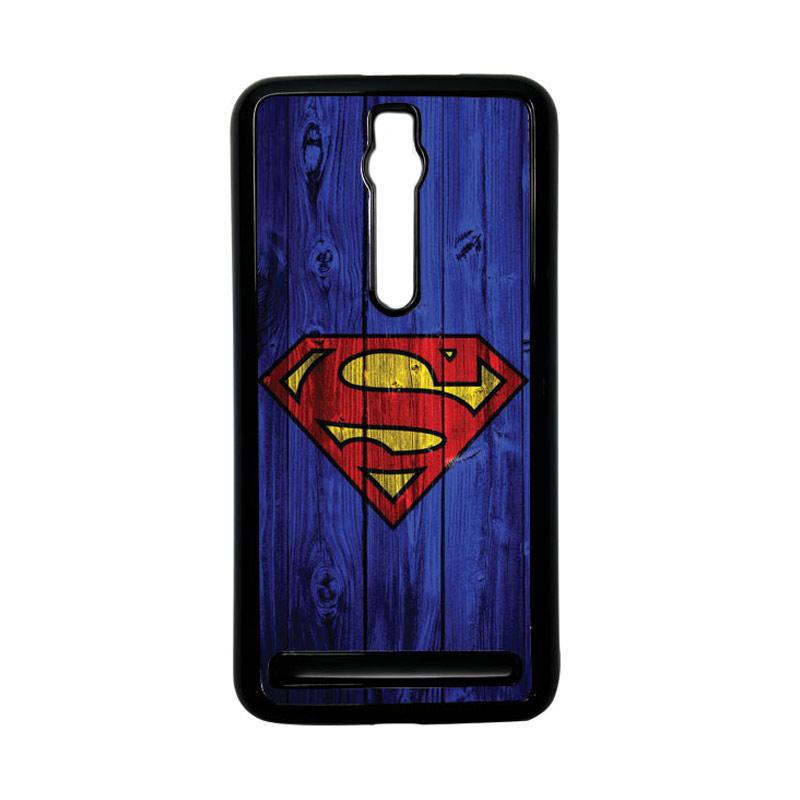 Heavencase Superman 08 Hardcase Casing for Asus Zenfone 2 ZE551ML or ZE550ML - Hitam