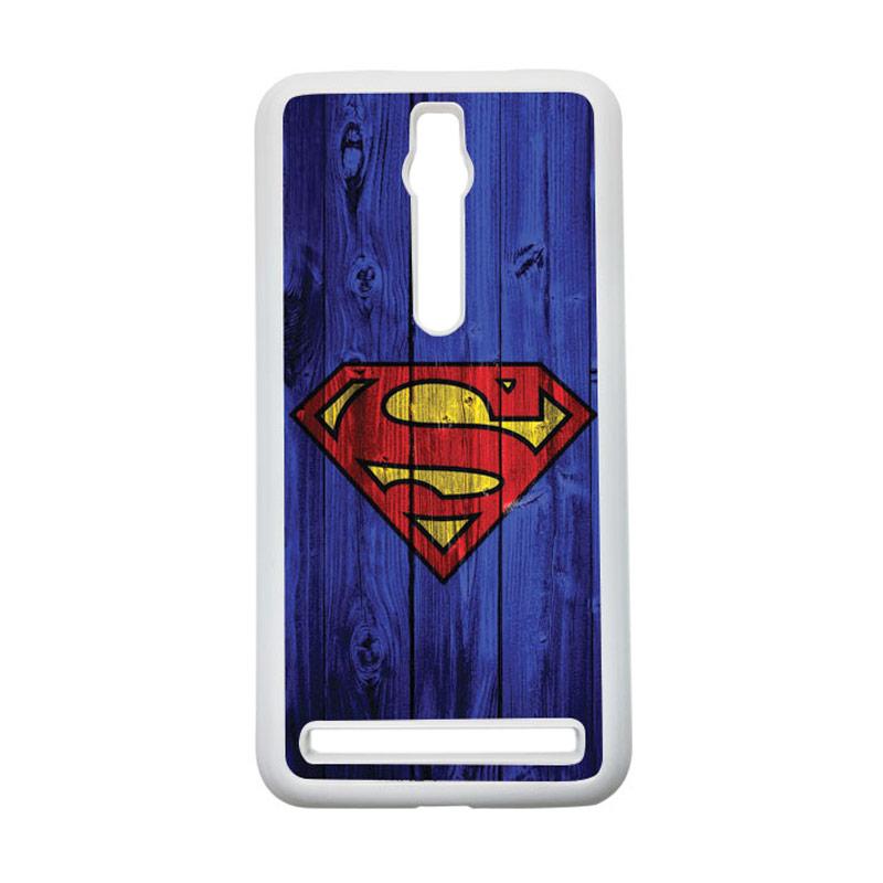 Heavencase Superman 08 Hardcase Casing for Asus Zenfone 2 ZE551ML or ZE550ML - Putih