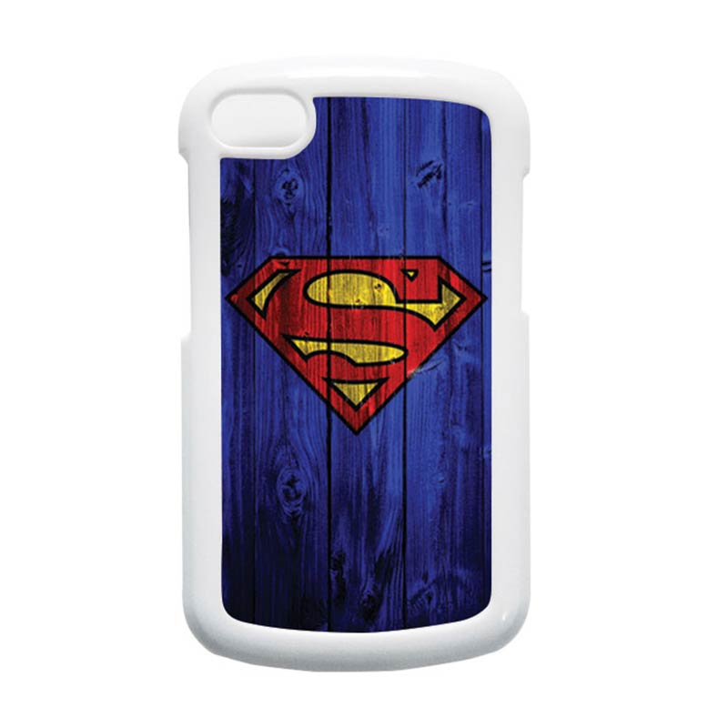 HEAVENCASE Superman 08 Putih Hardcase Casing for Blackberry Q10