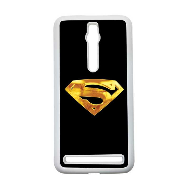 Heavencase Superman 09 Hardcase Casing for Asus Zenfone 2 ZE551ML or ZE550ML - Putih