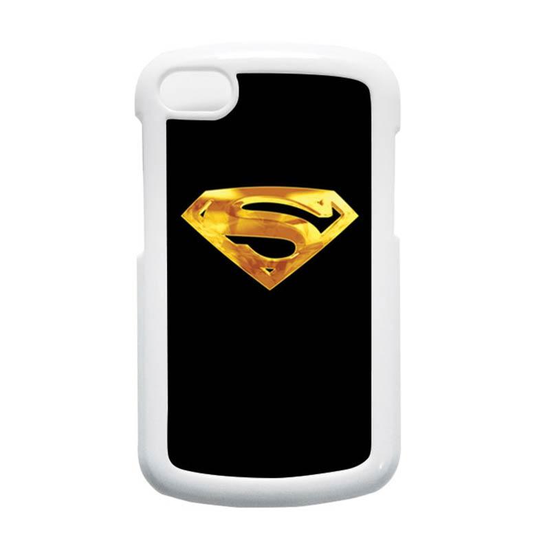 HEAVENCASE Superman 09 Putih Hardcase Casing for Blackberry Q10
