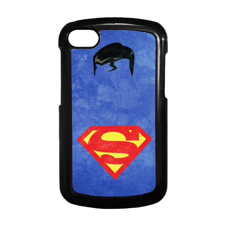HEAVENCASE Superman 10 Hitam Hardcase Casing Blackberry for Q10