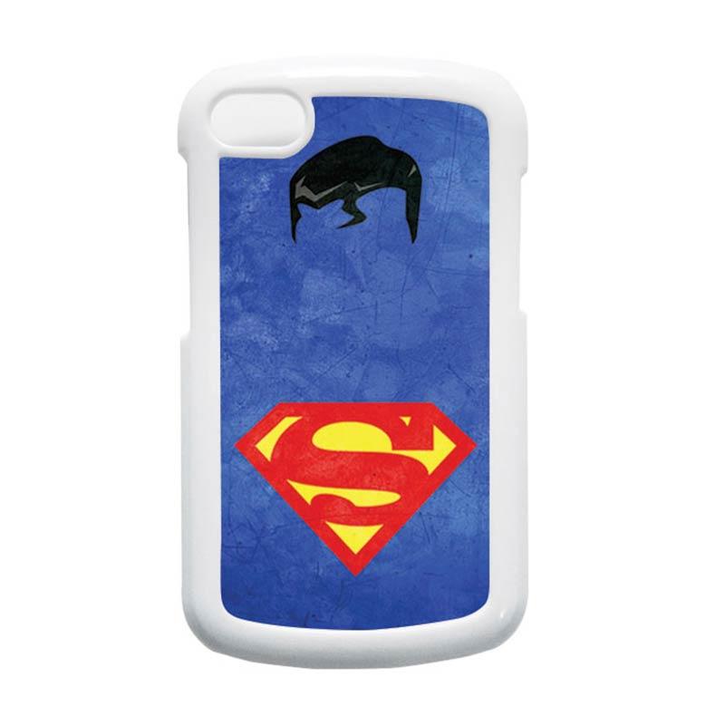HEAVENCASE Superman 10 Putih Hardcase Casing for Blackberry Q10