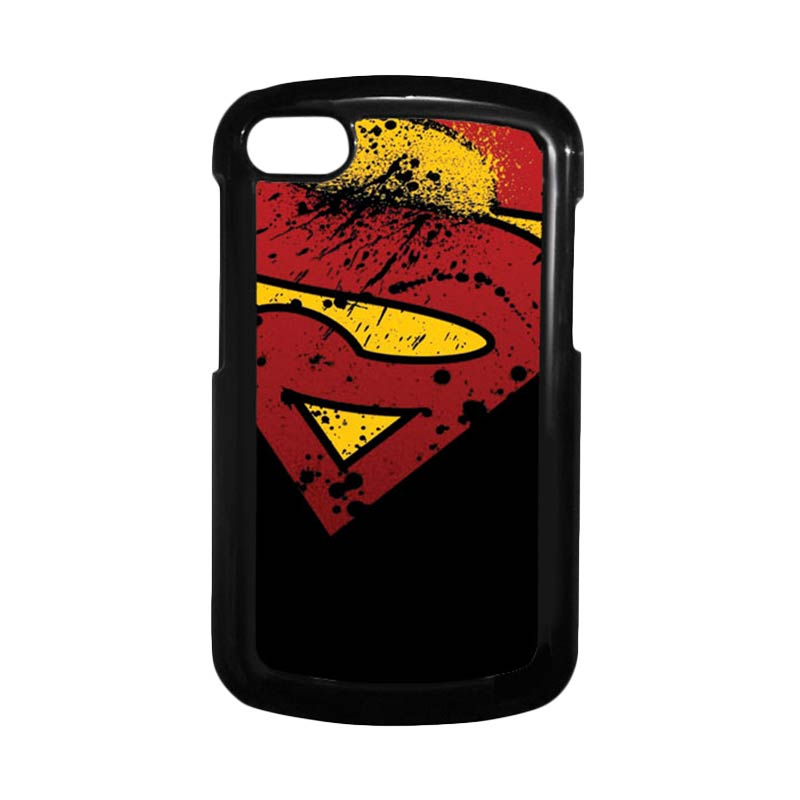 HEAVENCASE Superman 11 Hitam Hardcase Casing Blackberry for Q10