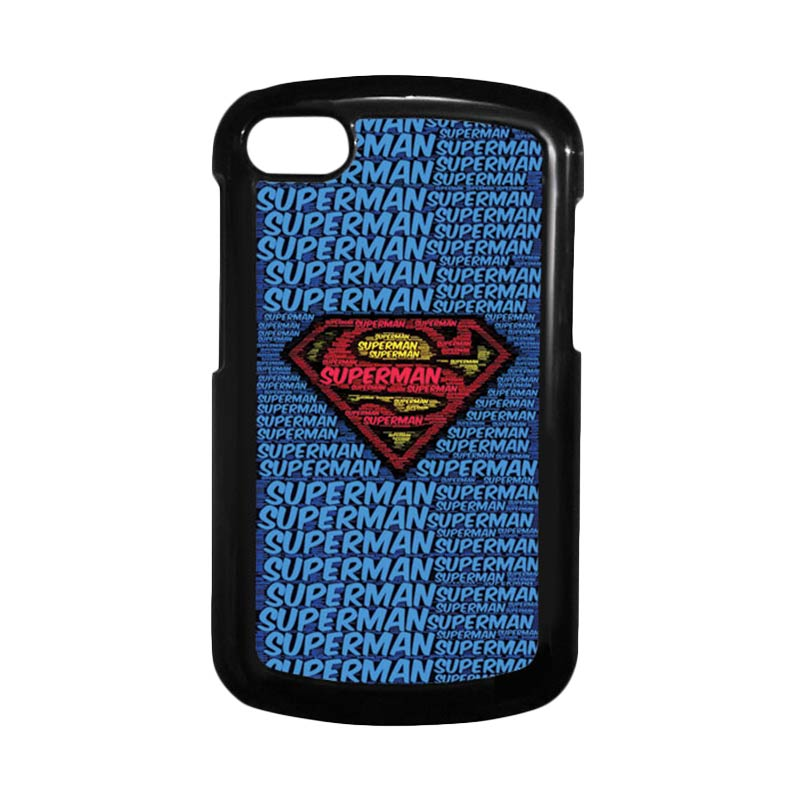 HEAVENCASE Superman 12 Hitam Hardcase Casing Blackberry for Q10